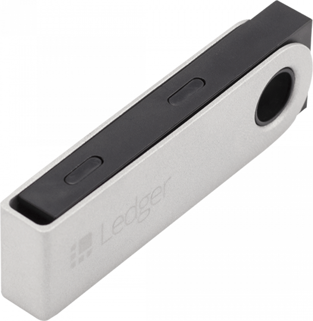 Ledger Nano S Crypto Wallet Side view