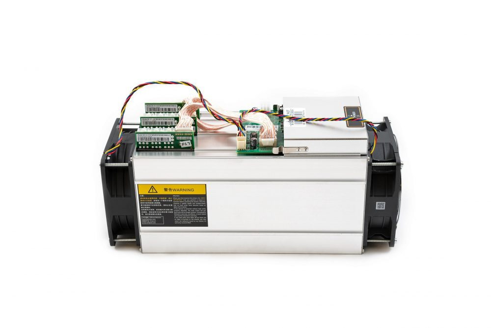 AntMiner S9 14TH/S Bitcoin Miner Side