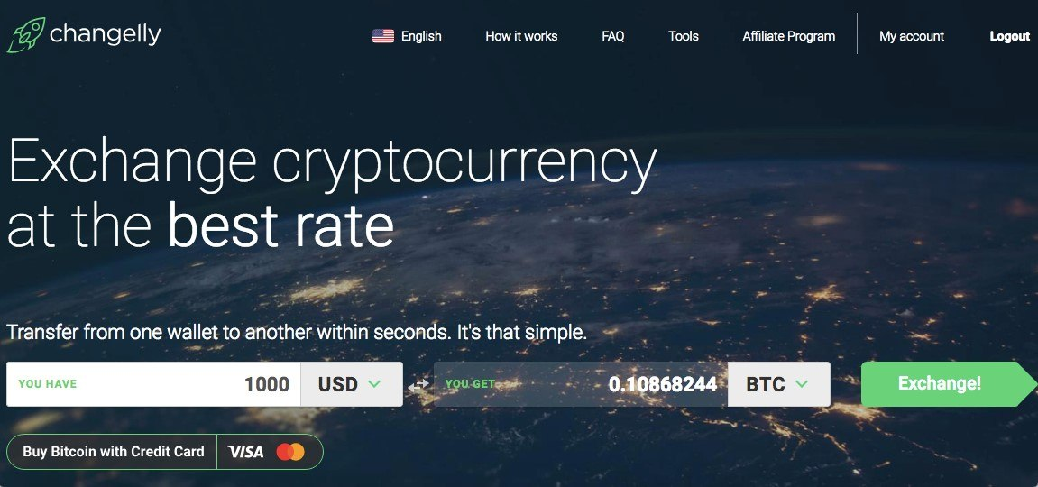 Using Changelly to buy bitcoin